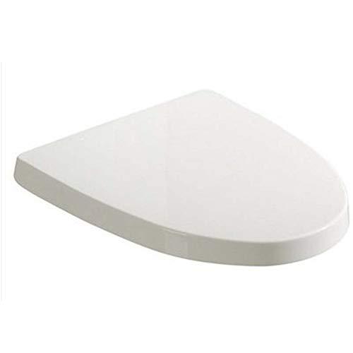 Ldwxxx Tapa de Inodoro Acolchada en Forma de V Tapa de Asiento de Inodoro Universal Silenciador Fácil de Instalar y Quitar Asiento de Inodoro fácil de Limpiar (Color : White)