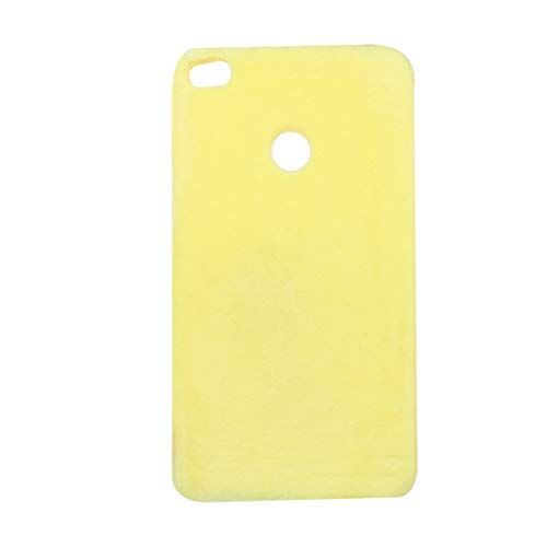VILLCASE Funda Protectora para teléfono de Color Puro Funda Ultrafina Suave de Peluche Ultrafino Funda Protectora a Prueba de Golpes para Xiaomi Mi MAX 2 (Amarillo)