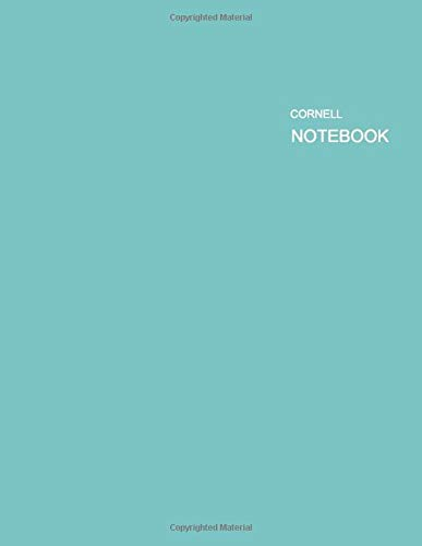 Cornell Notebook Aqua Sky Cover - Color of the Year- Aqua Sky, is a calming and serene cool shade of blue: Note Taking System (Notebooks for Students), 55 sheets / 110 Pages, 8.5 x 11 inches
