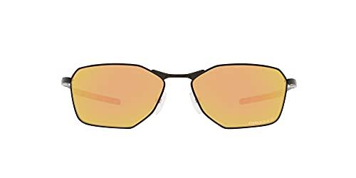 OO6047 Savitar Sunglasses, Satin Black/Prizm Rose Gold Polarized, 58mm