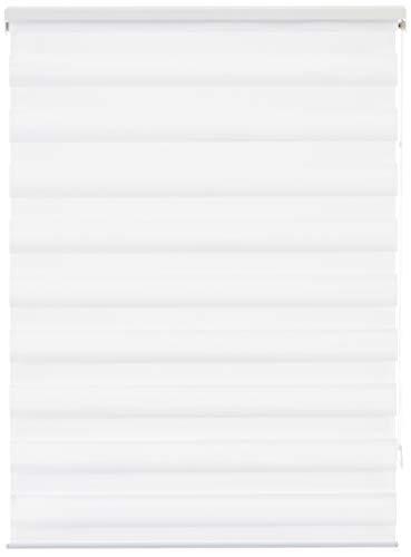 Estores Basic - Stores noche y día para ventana, para el interior, Blanco, 90x160cm