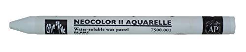 CARAN D'ACHE 7500.001 Aquarell-Wachsmalstift NEOCOLOR II, weiß