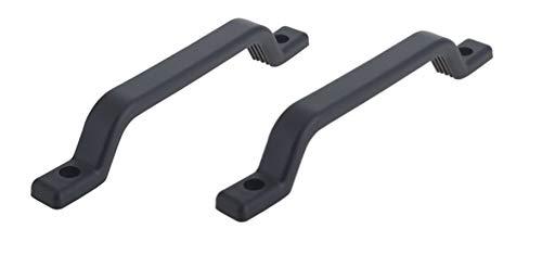 Troon&Co - Asa de plástico para remolques, Puertas, caravanas, Barcos (2 Unidades), Color Negro