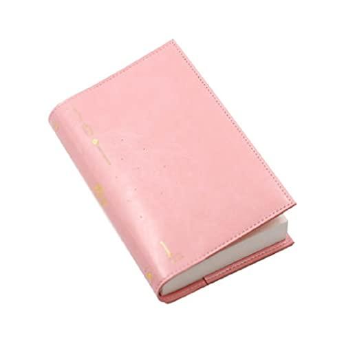 YHYH computadora portátil Cuaderno Engrosado Cuaderno Diario De Cuero Cuaderno Multifunción Portátil De Aprendizaje Y Gestión del Tiempo De Trabajo Cuaderno de Escritorio (Color : Pink)