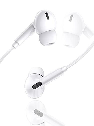 Auricolari, Auricolari in-Ear Cuffiette per iPhone 11, Auricolari stereo HiFi cablati con microfono e controllo del volume, compatibili con iPhone 8/8Plus/7/7Plus/12/12Pro/SE/11/11Pro Max/XS/X/XR