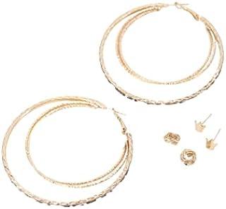 حلق فلافي الدائري للسيدات مجموعه حلقات معدن بجودة عاليه