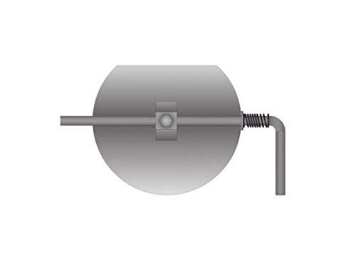 Edelstahl Drosselklappe für 120mm Rauchrohr unlakiert