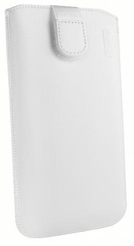 mumbi Echt Ledertasche kompatibel mit Samsung Galaxy S6 / S6 Duos Hülle Leder Tasche Case Wallet, weiss