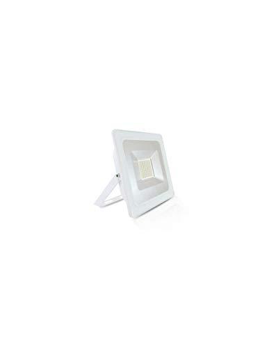 Vision-el - Proyector exterior LED plano (50 W, 6000 °K), color blanco