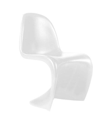 Lo+DeModa Baby Phantom, Juego de 2 sillas, ABS, blanco, 55x38x1.7 cm