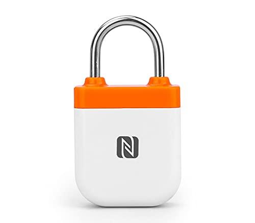 GYAM Fingerprint Padlock, NFC Smart Waterproof Suitcase Padlock APP Control, No Need to Charge, Backpack Locker Bicycle