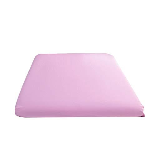 Elastischer Matratzenbezug Mit 4 Grip Anti-Rutsch-Schutzhülle Serria® Weiche Haptik pflegeleicht Feuchtigkeitsaufnahme Atmungsaktivem Matratzenschoner Rosa 200x220cm