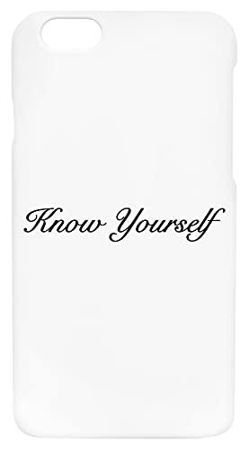 Know Yourself Custodia Per Telefono Compatibile Con iPhone 6, iPhone 6S Copertura in Plastica Dura Hard Plastic Cover