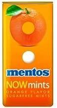 Mentos Now Mints Orange Sugarfree Mints, 1.09 Ounce -- 144 per case.