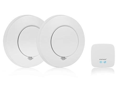 Smartwares SH8-99103 Smart Home Rauchmelder Set/ Intelligenter Alarm per App auf Smartphone und lokal / Alexa & Google kompatible