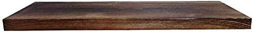 HJW Praktische opbergrek massief hout hangende plank voor thuisweergave, wandmontage opknoping opbergrek voor deur achter woonkamer slaapkamer 40 cm x 20 cm x 2,5 cm 1Huiyang-01020, bruin