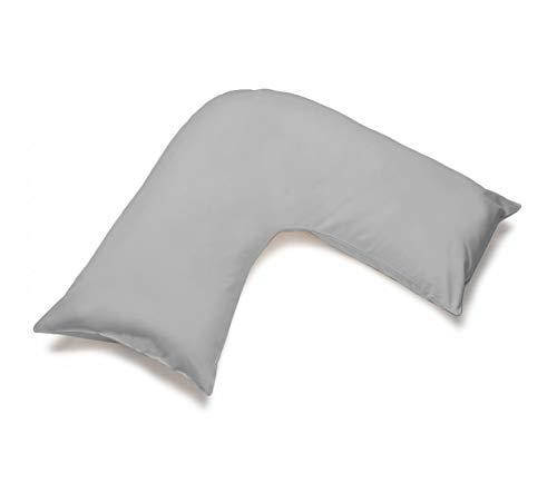 Grace Home Plain V Shaped Pillowcase Cover - Soft Feel Easy Care...
