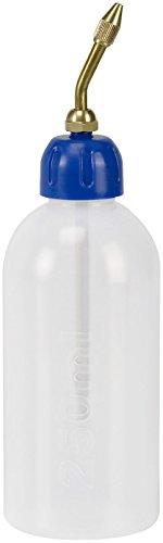 Pressol 06865 Öler aus mit Messingspritzrohr | Öl-, säure- und kraftstoffbeständig / Ausziehbares Spritzrohr; + Skala (Material: LDPE Polyethylen / Inhalt 250ml / Farbe: Weiß, Transparent)