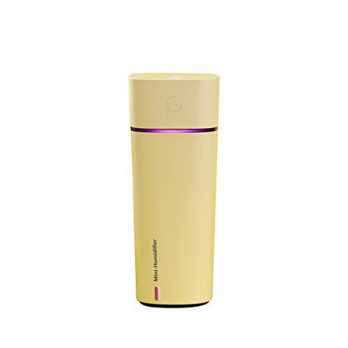 SHENBEIK Ventilador Agua Nebulizador, Pequeño Ventilador Eléctrico, Humidificador Bebes, Led, para El Hogar, Coche, Oficina,Amarillo