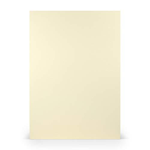 PAPERADO 25x Briefpapier DIN A4 - Chamois Beige 100 g/m² - Papierbögen in 29,7 x 21 cm zum Basteln & Drucken