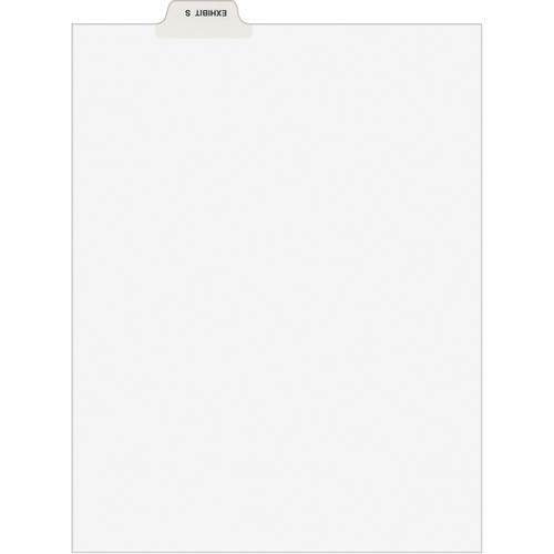 Avery Divider; Exhibit S'; Bottom Tab; 8-1/2'x11'; 25/PK; White