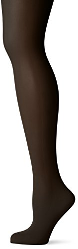 DKNY Women's Comfort Luxe Control Top Opaque Tight, Black, Tall