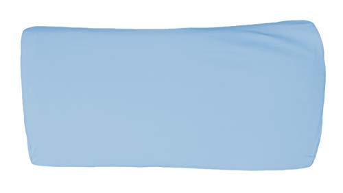 Bellana Nackenstützkissen Gesundheitskissen Kissenbezug de Luxe S/M 60-65 x 30-35 x 7-10 cm in Mittelblau