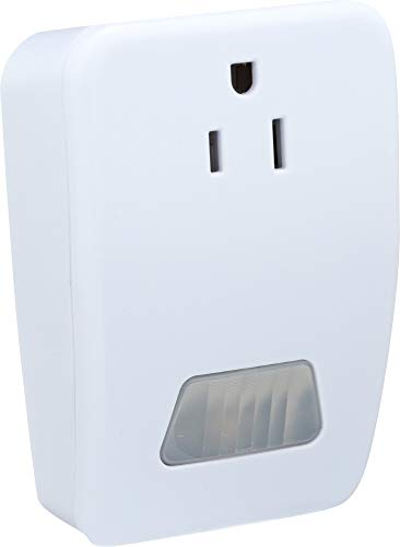 Westek MLC4BC Indoor Plug-In Motion Activated Light Control, White