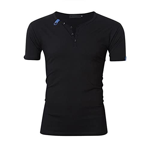 SSBZYES Camiseta De Verano para Hombre Camiseta De Manga Corta para Hombre Camiseta De Verano para Hombre Camiseta Casual para Hombre Camiseta con Cuello En V para Hombre Color Sólido