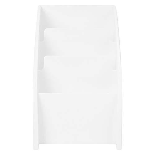 Cabilock Mesa Blanca Caddy Remoto 4 Compartimentos de Escritorio Pluma Titular de La Taza Llaves del Teléfono Celular Almacenamiento de La Oficina Hogar Papelería Contenedor Diversos