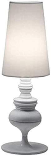 Lámparas de escritorio FHW Lámpara de Mesa Tallada lámpara clásica posmoderna Dormitorio de Noche lámpara lámpara de Noche lámpara de Noche (Color : D25*H75cm, Size : White)