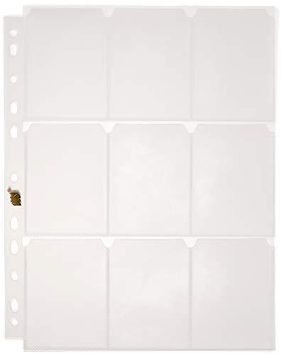 Refil Plástico Para Cartões com 9 bolsos, YES, RCP1097, 10 Unidades,