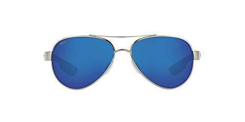 Costa Del Mar Women's Loreto Sunglasses, Palladium/Grey Blue Mirrored Polarized-580P, 56 mm