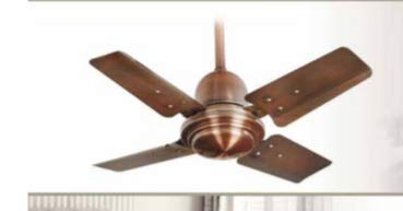 "Breezalit Designer Ceiling Fan Cool Breeze Antique Copper Finish (Air Delivery 230 cmm Size 24"" (600 mm) Watts 65w)"