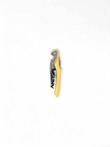TUNDRA ICE INTERNATIONAL Sacacorchos profesional Uniq, 100% Italian Design Abrebotellas de vino y cerveza, en acero inoxidable y plástico coloreado, con cuchillo de papel, 11,8x2,7x1,4 cm, amarillo