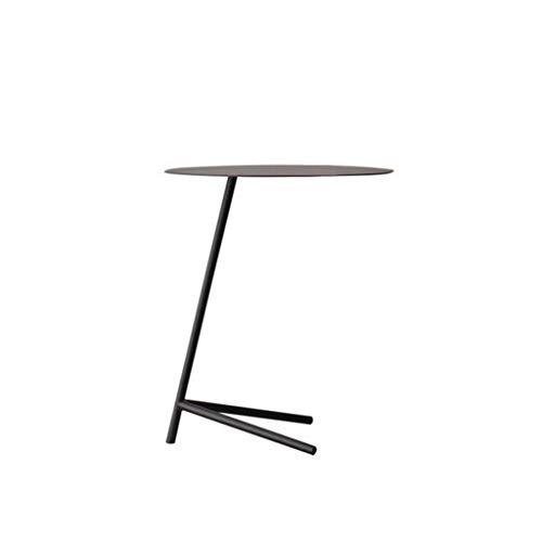 TangMengYun Côté de salon de sofa rond de fer, Tableau créatif minimaliste nordique de meubles de table de chevet (Color : Black-45 * 55cm)