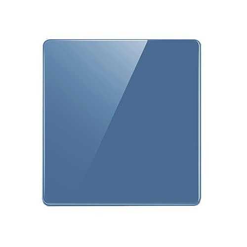 SYunxiang Interruptor Azul Panel de CA 86 Interruptor de Pared Interruptor de Palanca de presión Interruptor de luz Encendido/Apagado Panel de Vidrio Templado de Cristal Interruptor de Pared