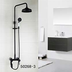 Bathroom Shower Faucet Classic ORB Plating Bathroom Shower Faucet Set Wall Mounted Rainfall Bathtub Faucet Mixer Faucet Tap,502683