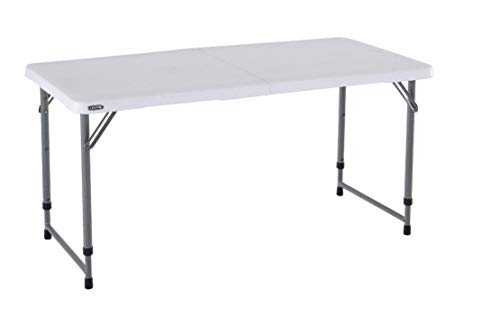 LIFETIME 4428 - Mesa plegable multiusos ultrarresistente, UV100, 122x61x56 - 91,5 cm