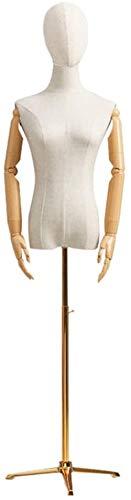 HongLianRiven Percha del Cuerpo Humano Femenino del maniquí con trípode del Soporte de la Cabeza del maniquí de Cuerpo for Las Mujeres Ropa de Las Muchachas de Vestir Muestra 145-180cm Ajustable