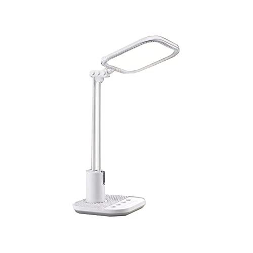 WGLL DIRIGIÓ Lámpara de Escritorio, lámparas de Mesa con Cuidado de Ojos, luz Natural Protege los Ojos lámpara de Oficina Regulable USB Puerto de Carga