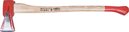 Connex COX842020 Spaltaxt 2000 g - Robuuste steel van essenhout - Ideale krachtoverbrenging - Zwaar & wigvormig blad - voor het splijten van hout/Universele bijl met snijbescherming/Fallaxt /