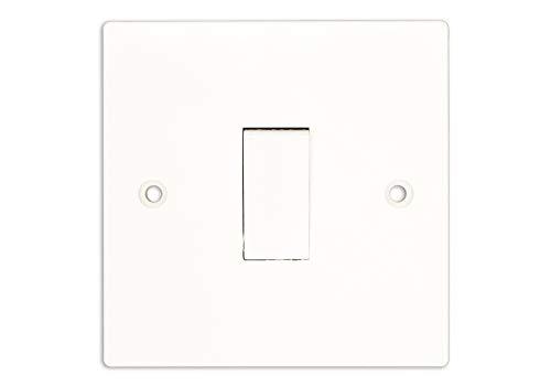 Klite Single 10A 1 Gang 2 Way Light Switch - White