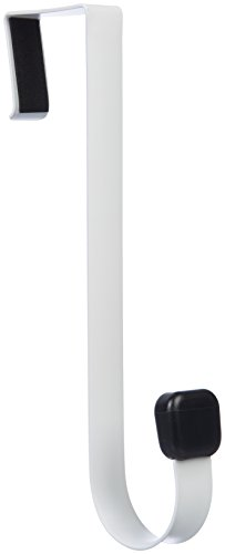 AmazonBasics - Gancho individual para colgar sobre la puerta, Blanco