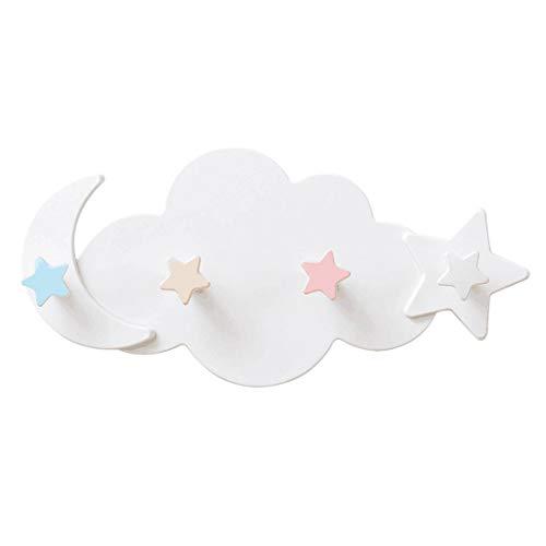 YUENA CARE Percheros Decorativos de Montaje en Pared de ABS, Forma Nube y Estrella Hermoso para Salón Dormitorio Baño y Cocina,2 Unidades #2