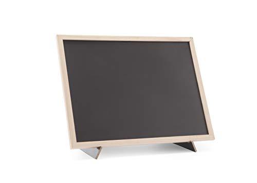 HENDI Kreidetafel, Blackboard, Schiefertafel, Memoboard, mit Ständer, Holzrahmen, 300x400mm, Holz
