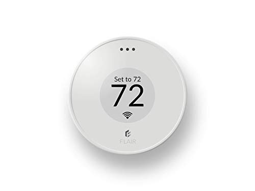Flair Puck, WiFi Wireless Thermostat (Pearl White). Controls Flair Smart Vents. Compatible with Alexa, works with ecobee, Honeywell smart thermostats, and Google Assistant.