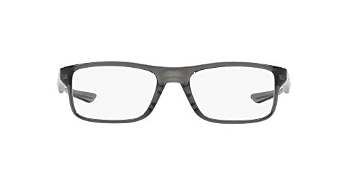 Oakley 0OX8081 Monturas de gafas, Polished Grey Smoke, 53 Unisex
