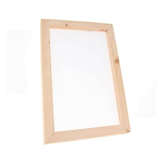 Wdsjxd Marco de madera para lienzo, pintura al óleo por números, marco para fotos de interior, para pared, decoración del hogar, marco de fotos (4 tiras), pino de 40 x 50 cm