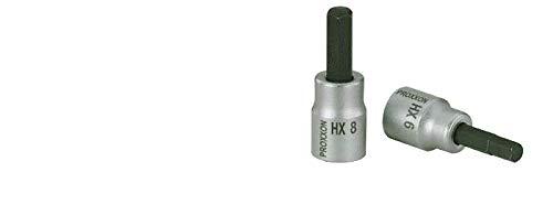 """Proxxon Innensechskant 3/8"""" (HX 9, für Steckschlüssel, aus Chrom-Vanadium-Stahl, Ratschenschlüssel Einsatz) 23577"""